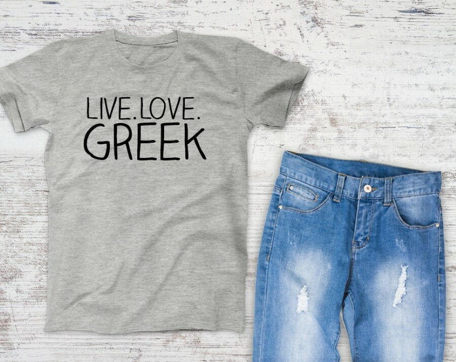 Live Love Greek Campus Tee