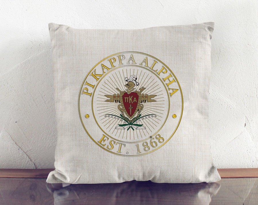 Pi Kappa Alpha Crest Linen Pillow