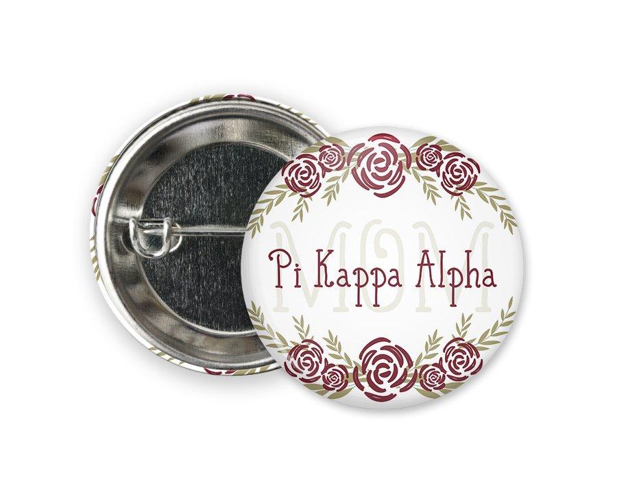 Pi Kappa Alpha Mom Floral Button