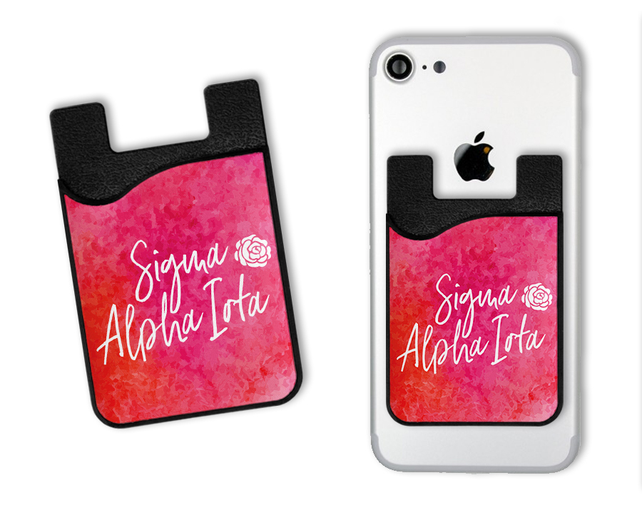 Sigma Alpha Iota Watercolor Caddy Phone Wallet