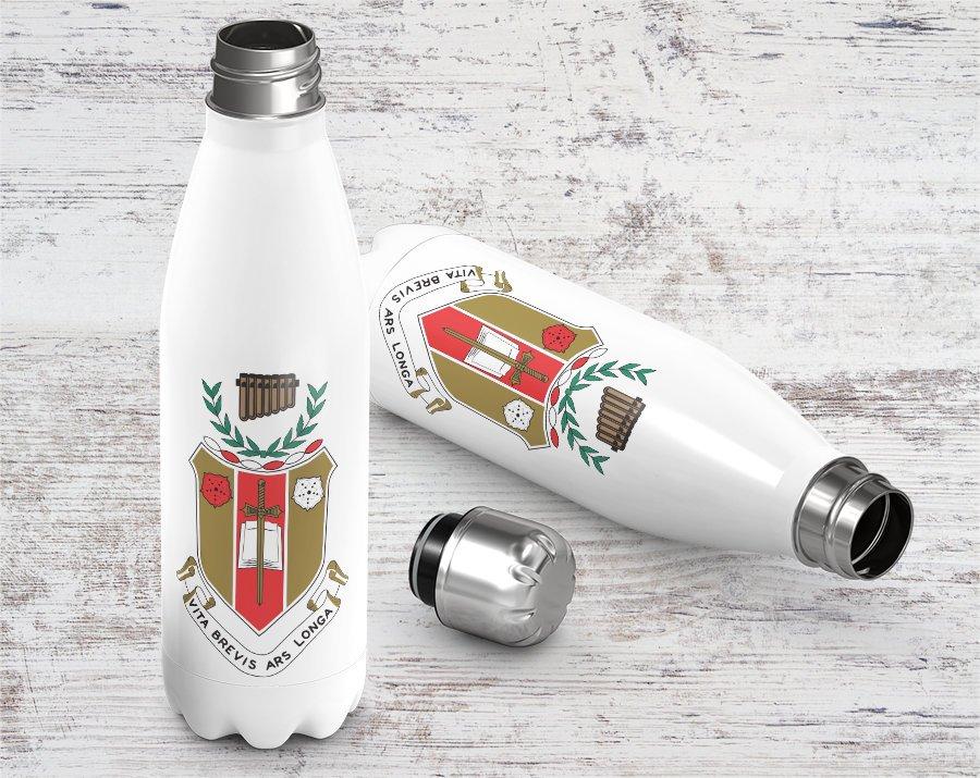 Sigma Alpha Iota Crest - Shield Stainless Steel Water Bottle