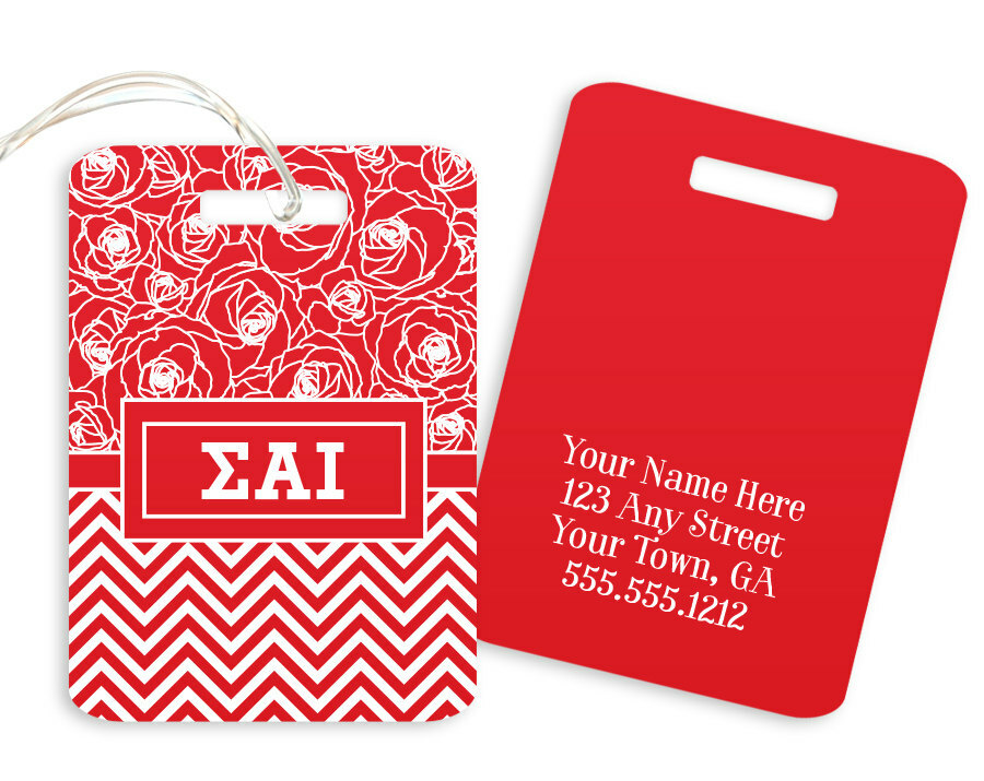 Sigma Alpha Iota Geometric Luggage Tag