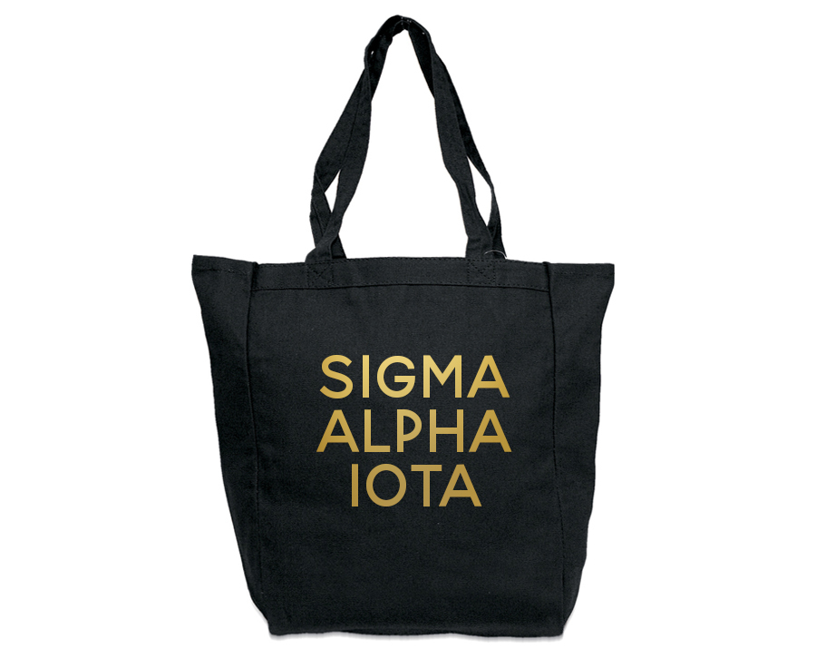 Sigma Alpha Iota Gold Foil Tote bag