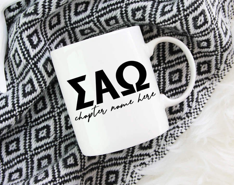 Sigma Alpha Omega Chapter Mug