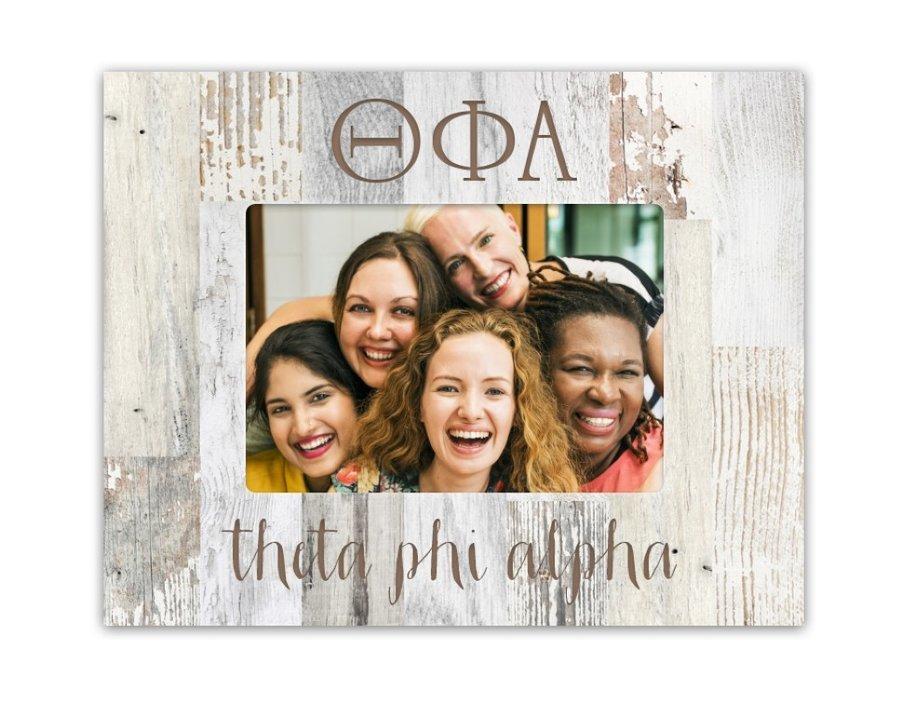 Theta Phi Alpha Letters Barnwood Picture Frame