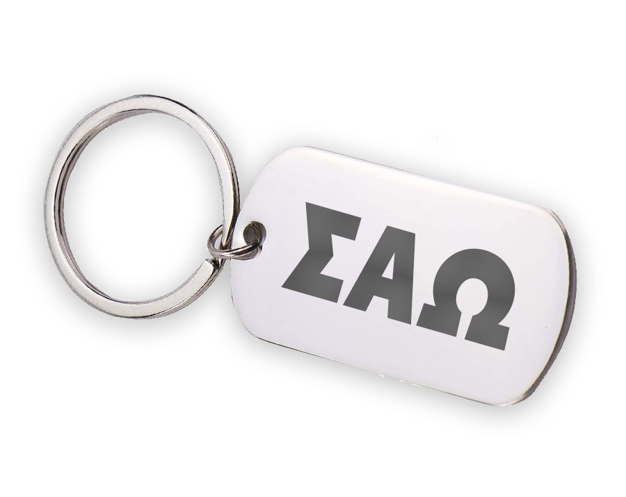Sigma Alpha Omega Letters Stainless Keychain