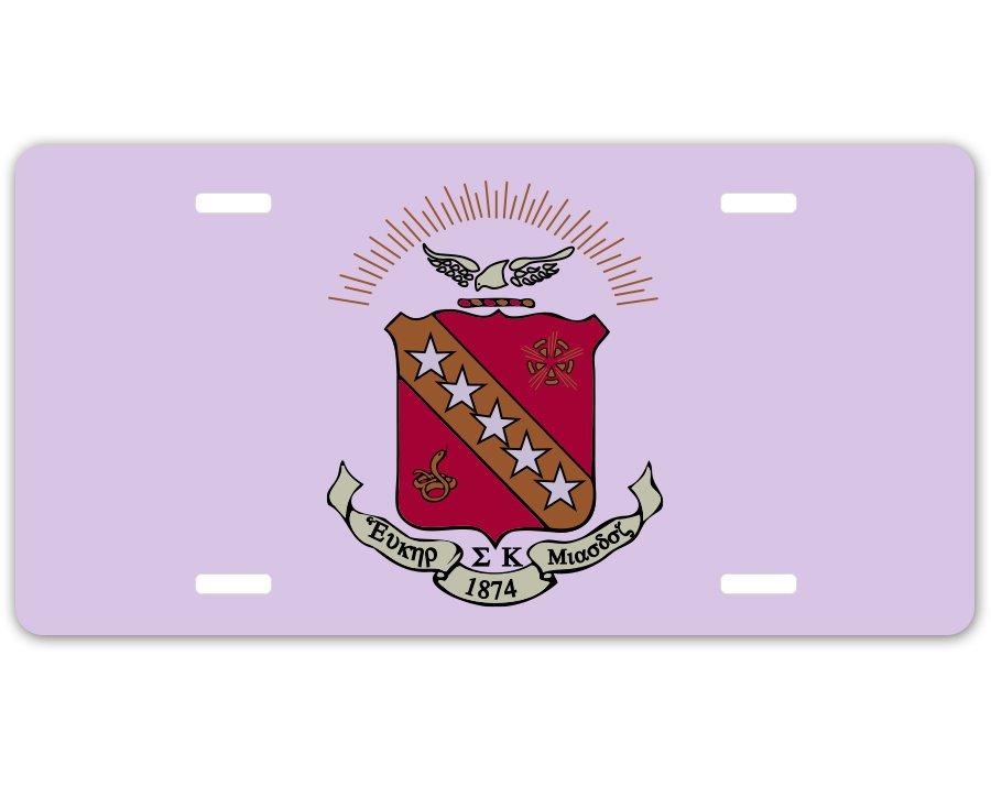 Sigma Kappa Crest - Shield License Plate