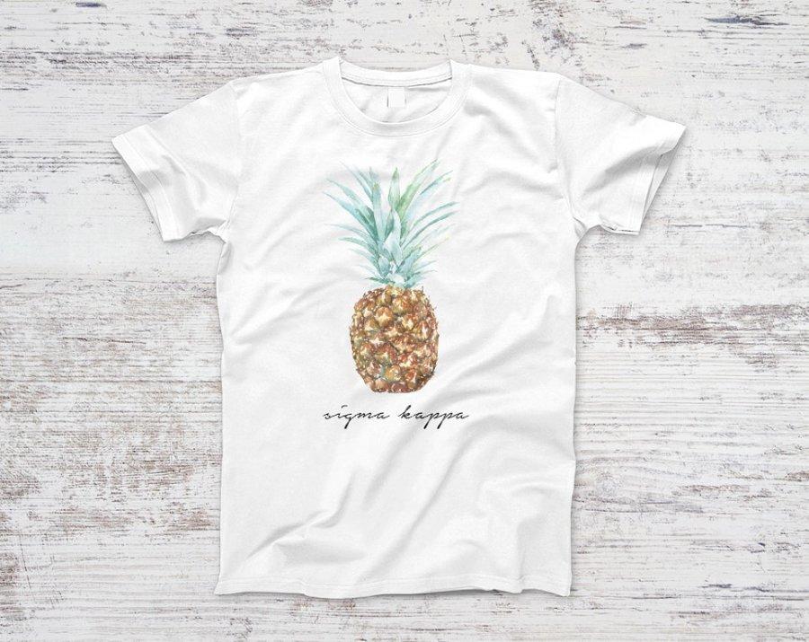Sigma Kappa Pineapple Script Tee