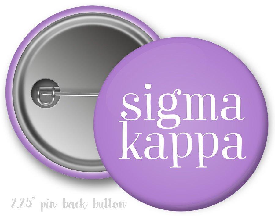 Sigma Kappa Simple Text Button