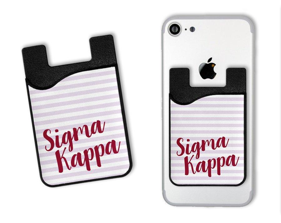 Sigma Kappa Sorority Stripes Caddy Phone Wallet