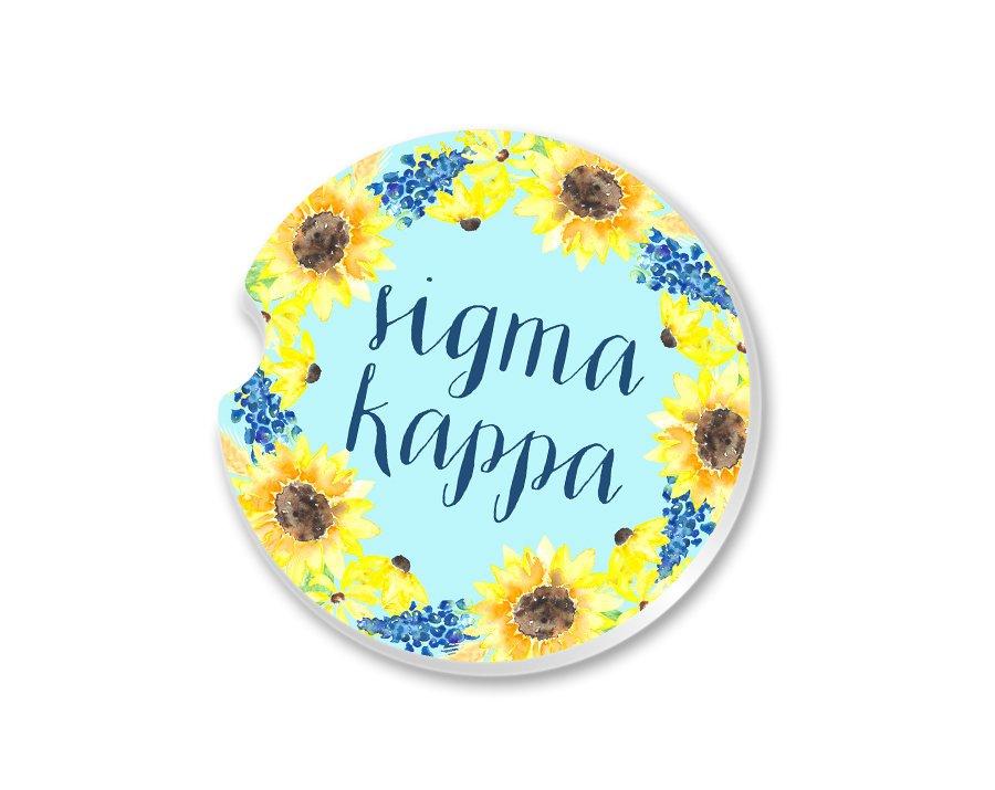 Sigma Kappa Sunflower Car Coaster