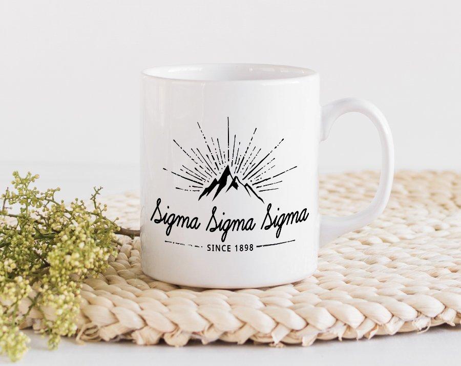 Sigma Sigma Sigma Mountain Mug