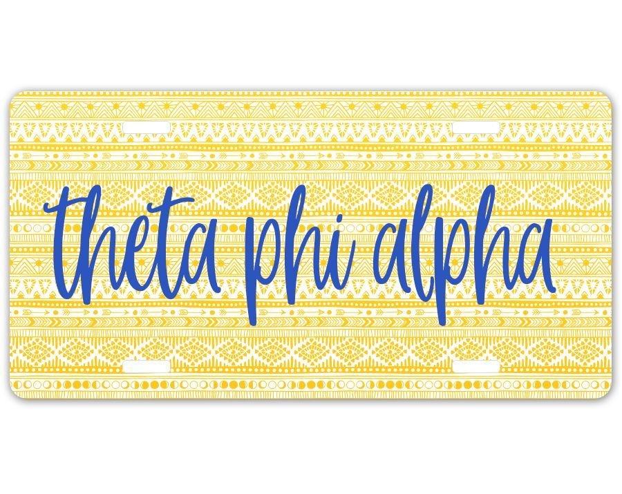 Theta Phi Alpha Aztec License Plate