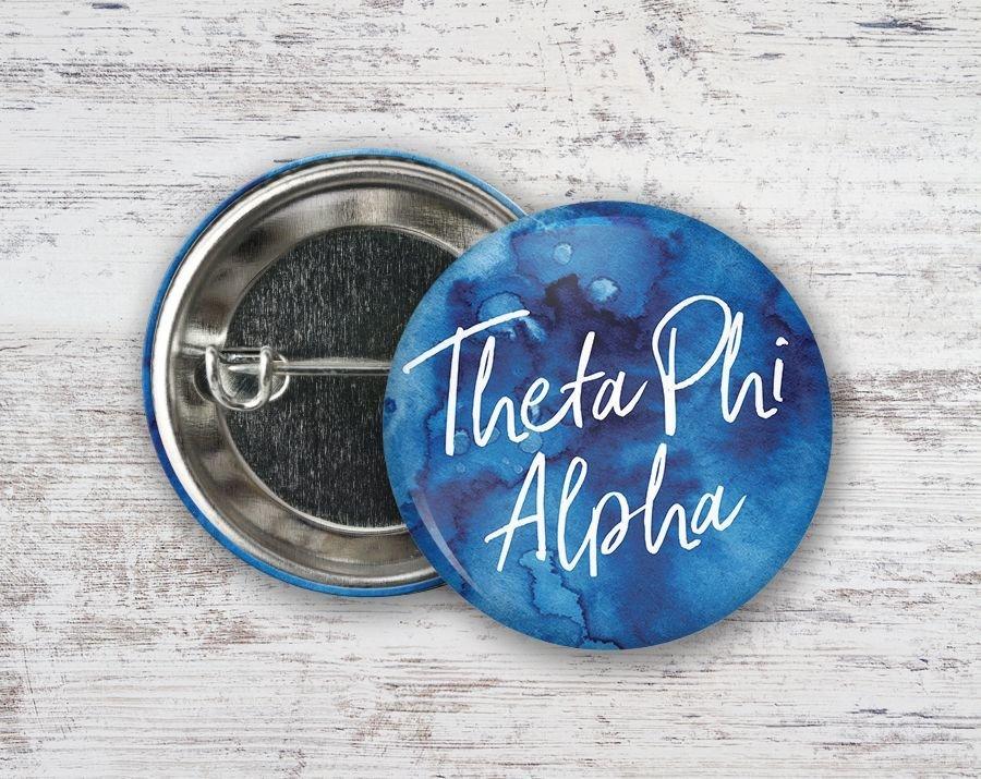 Theta Phi Alpha Watercolor Button