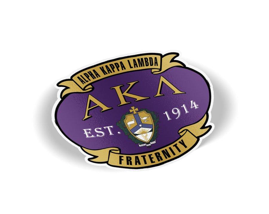 Alpha Kappa Lambda Banner Crest - Shield Decal