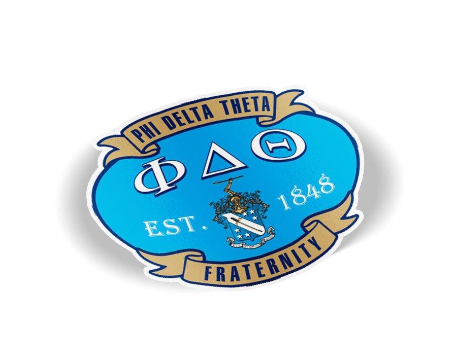 Phi Delta Theta Banner Crest - Shield Decal