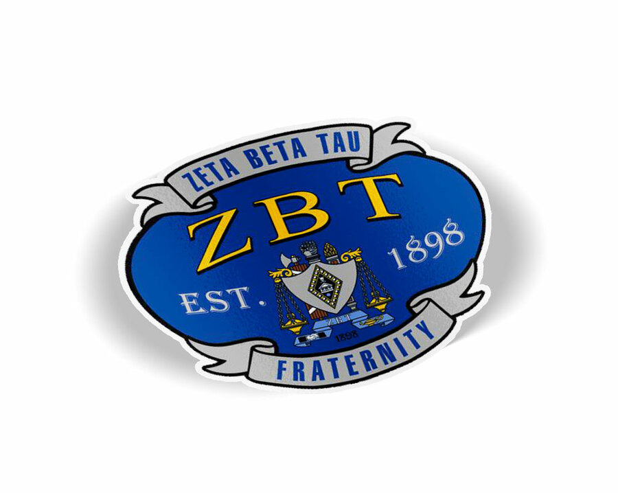 Zeta Beta Tau Banner Crest - Shield Decal