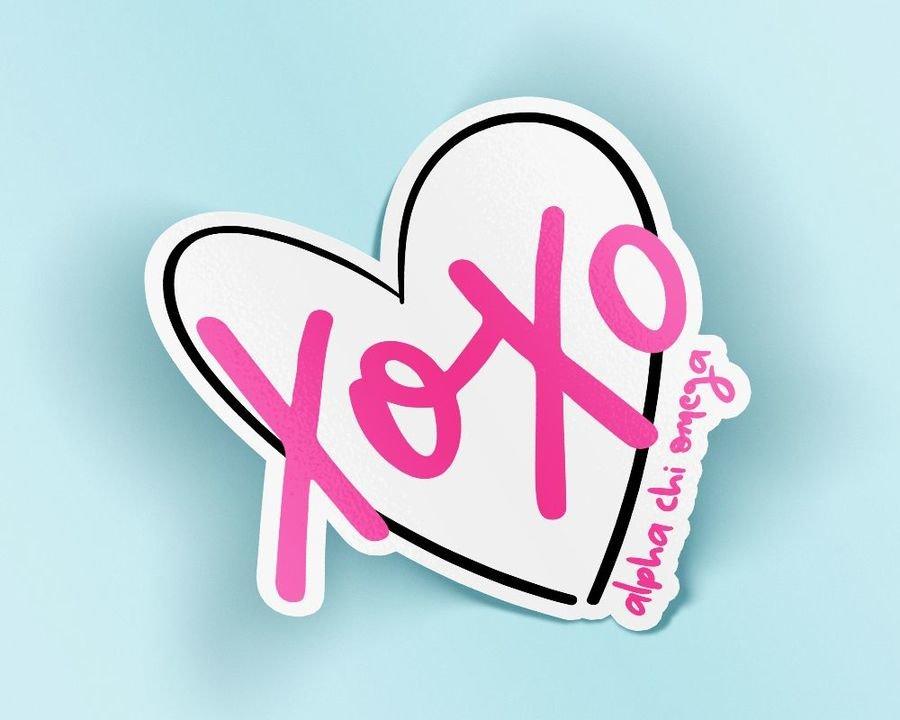 Alpha Chi Omega XOXO Sticker