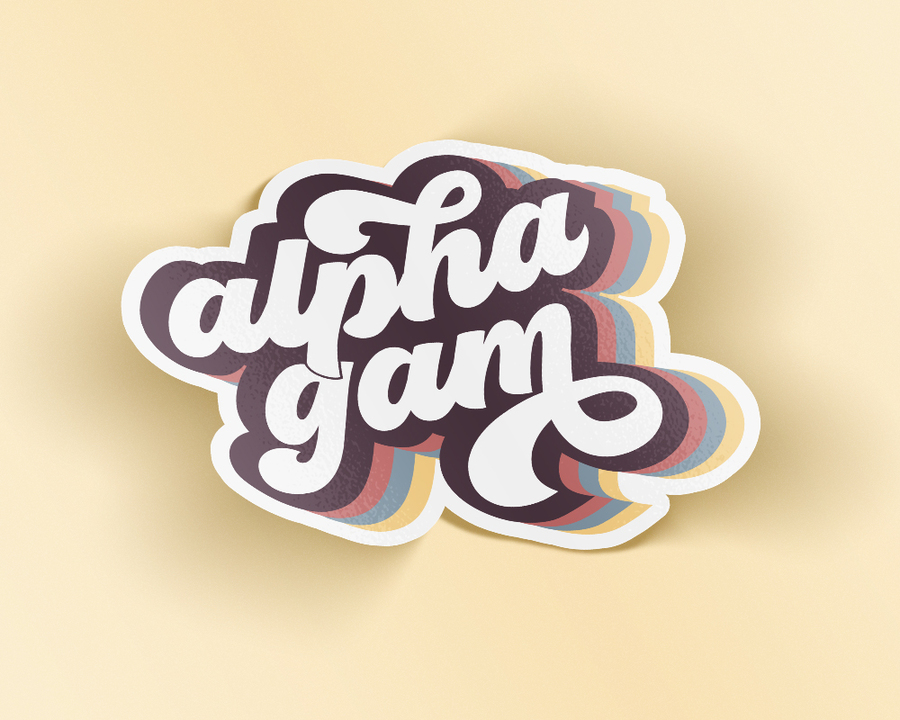 Alpha Gamma Delta Retro Sticker