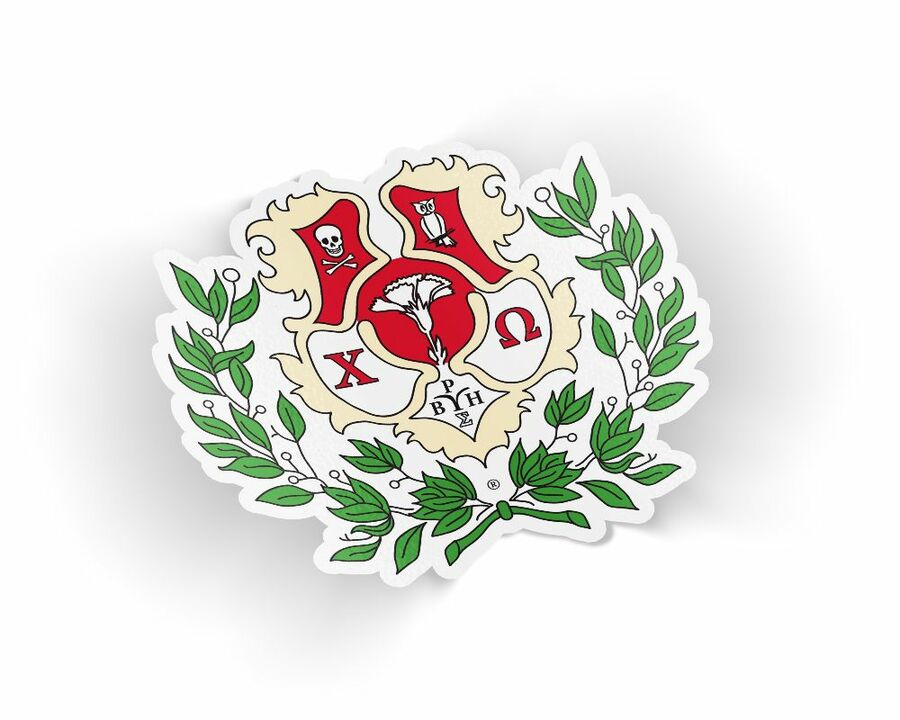 Chi Omega Die Cut Crest Sticker