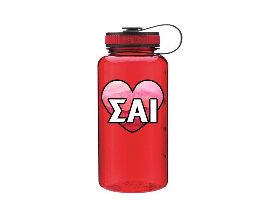 Sigma Alpha Iota Heart Wide Mouth Water Bottle