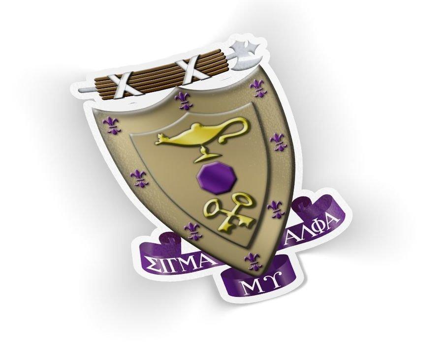 Sigma Alpha Mu Die Cut Crest Sticker