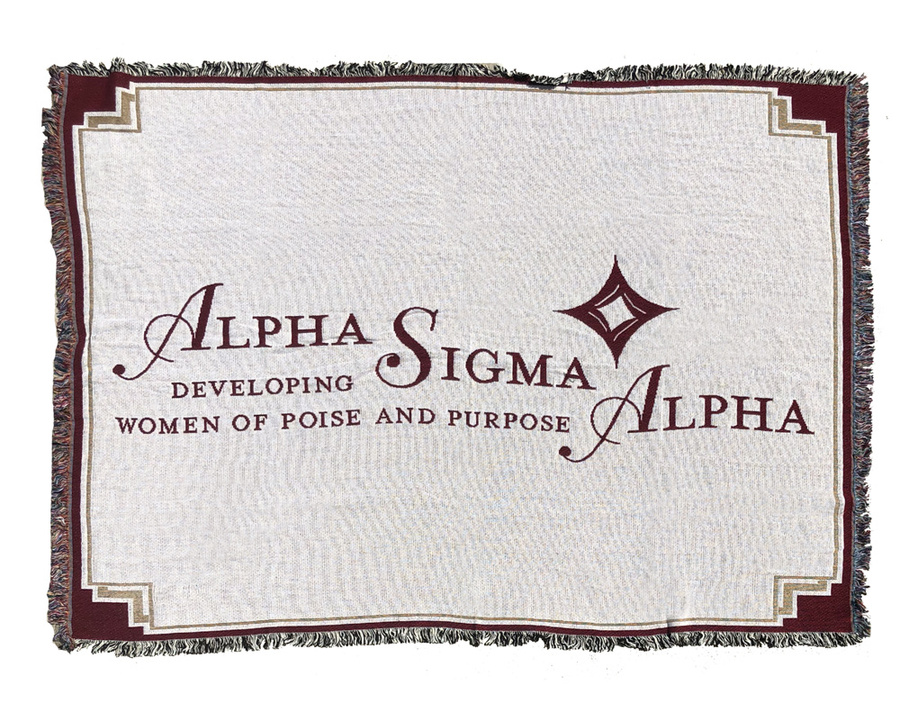 Alpha Sigma Alpha Afghan Blanket Throw