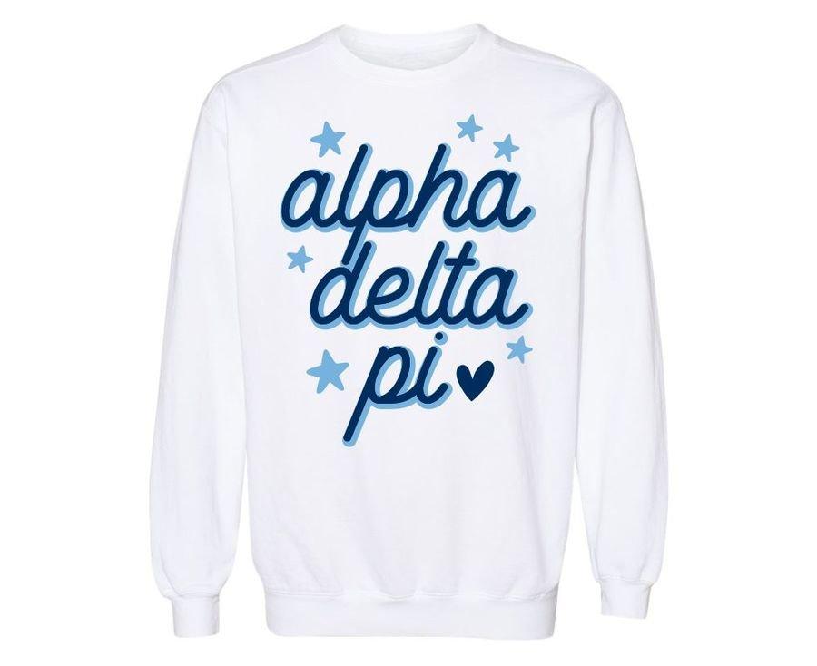 Alpha Delta Pi Star Sweatshirt