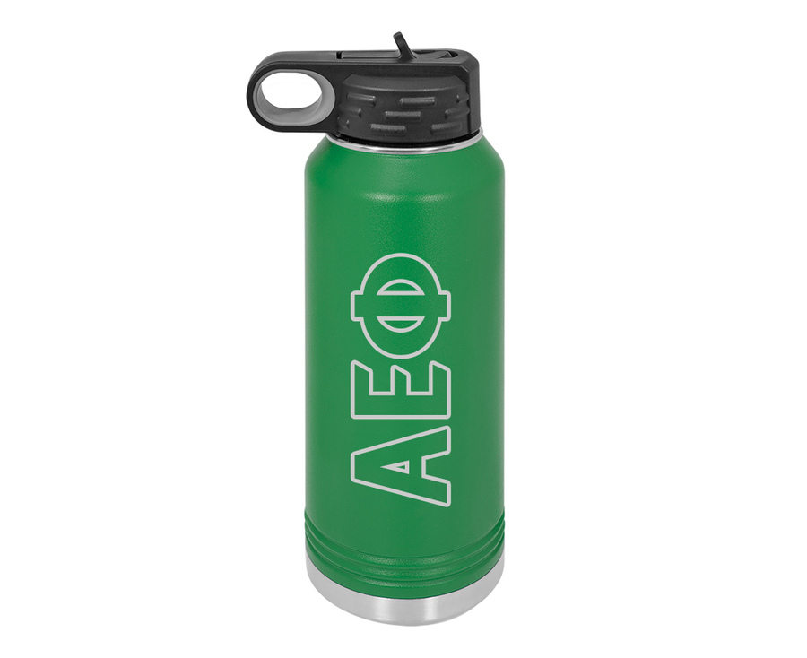 Alpha Epsilon Phi Letters Stainless Water Bottle