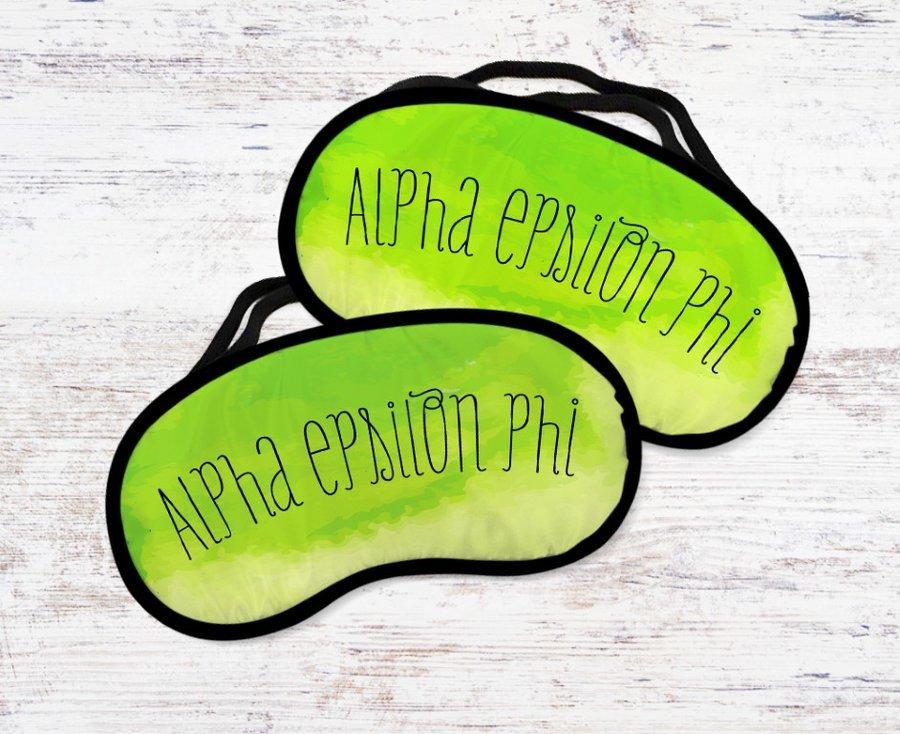 Alpha Epsilon Phi Watercolor Eye Mask