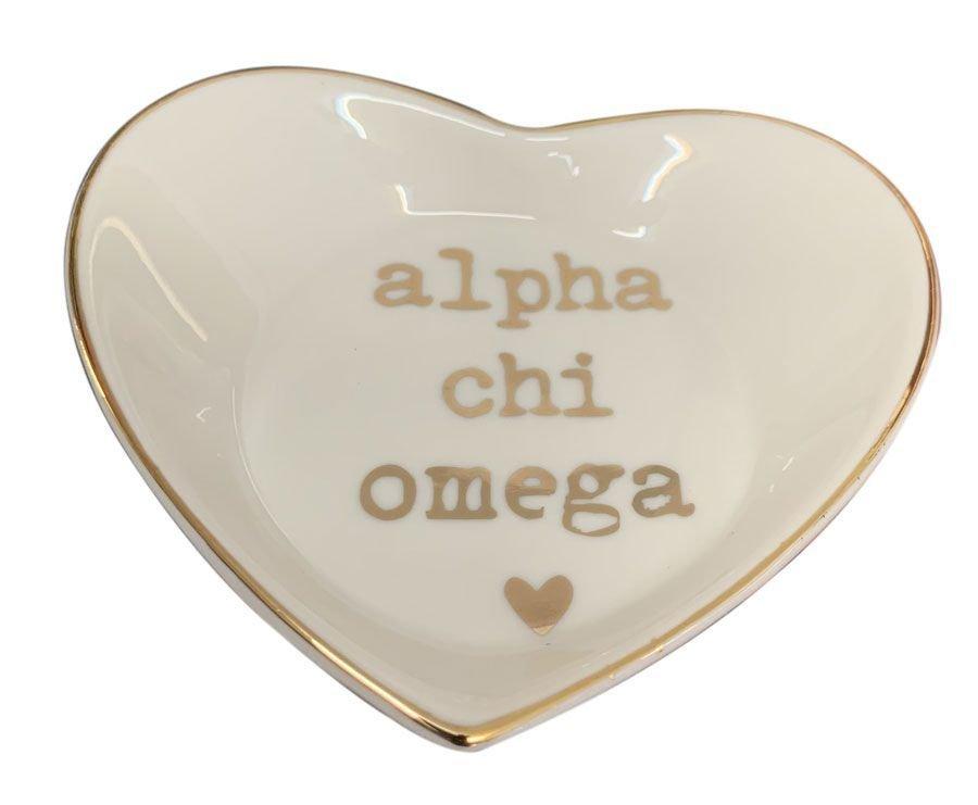 Alpha Chi Omega Ceramic Ring Dish