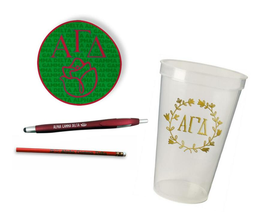 Alpha Gamma Delta Sorority Mascot Set $8.99