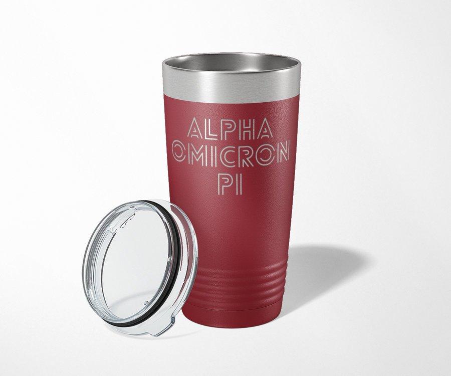 Alpha Omicron Pi Modera Tumbler