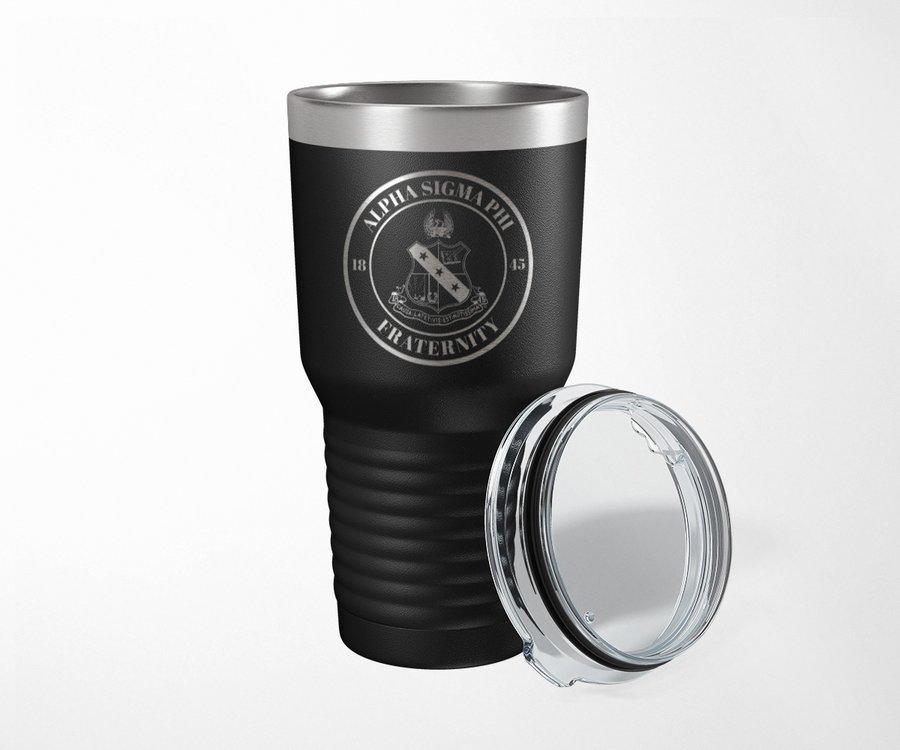 Alpha Sigma Phi Crest Seal Tumbler