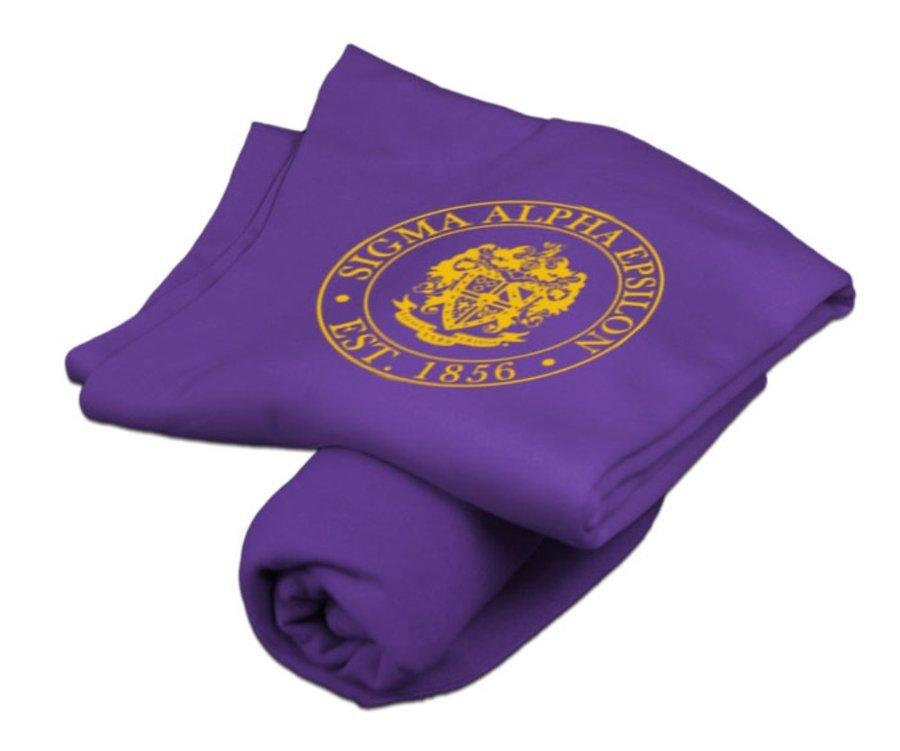 Sigma Alpha Epsilon Sweatshirt Blanket