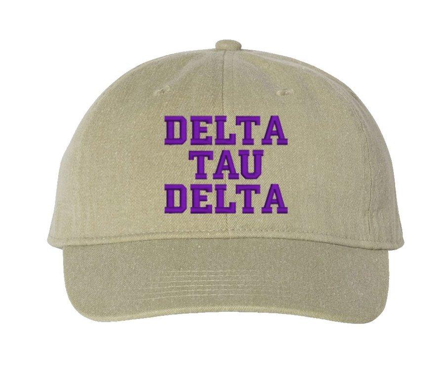Delta Tau Delta Comfort Colors Pigment Dyed Baseball Cap