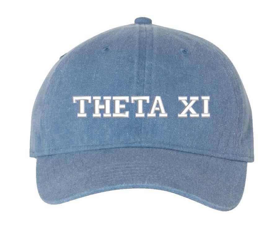 Theta Xi Pigment Dyed Baseball Cap