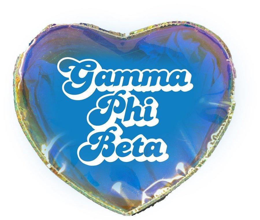 Gamma Phi Beta Heart Shaped Makeup Bag