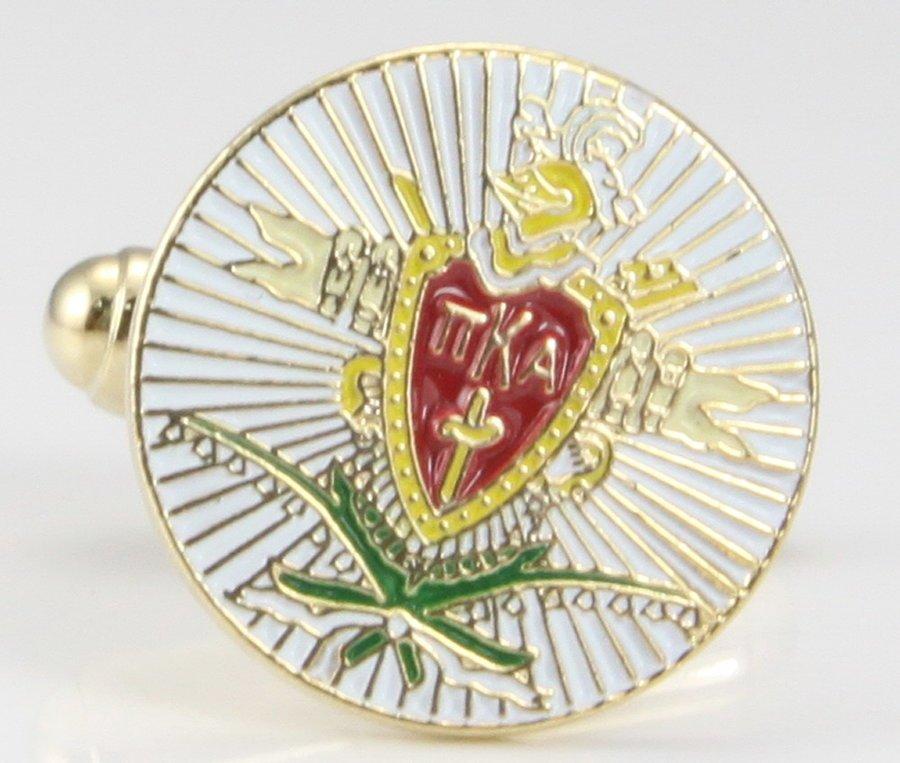 Pi Kappa Alpha Color Crest - Shield Cuff links