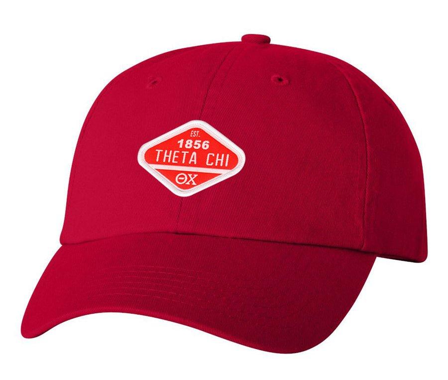 DISCOUNT-Theta Chi Woven Emblem Hat