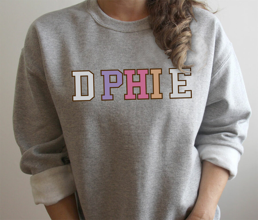 Delta Phi Epsilon Nickname Crew Sweatshirt