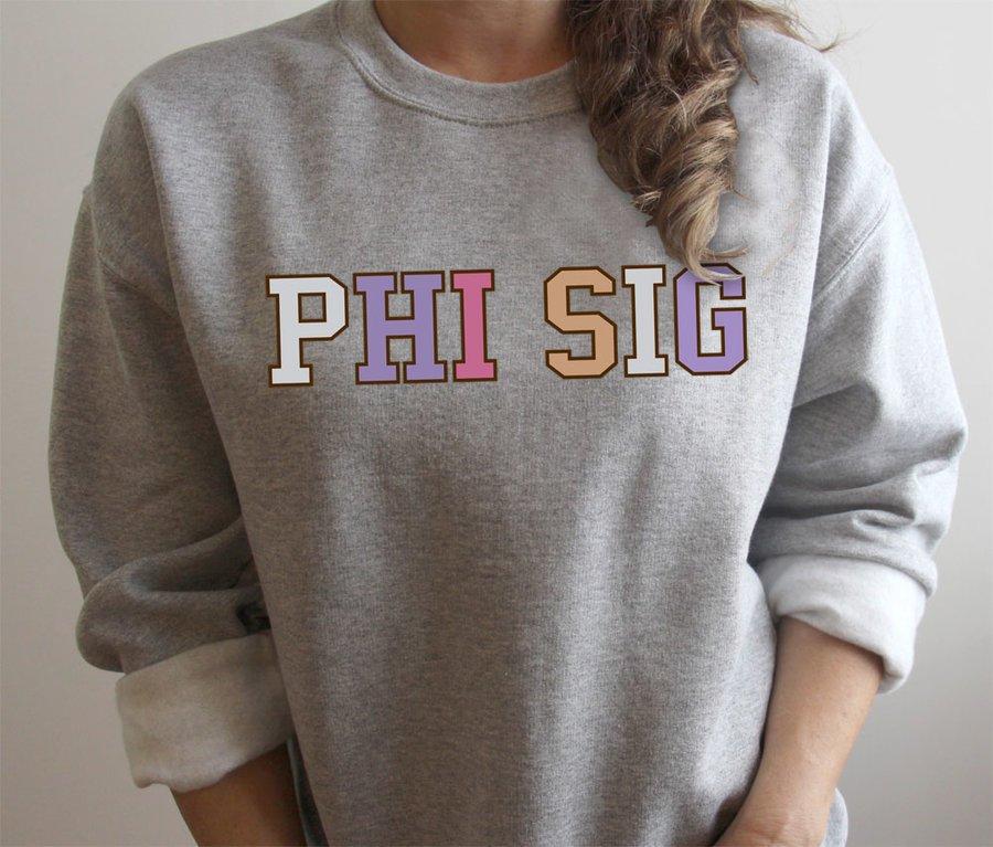 Phi Sigma Sigma Nickname Crew Sweatshirt