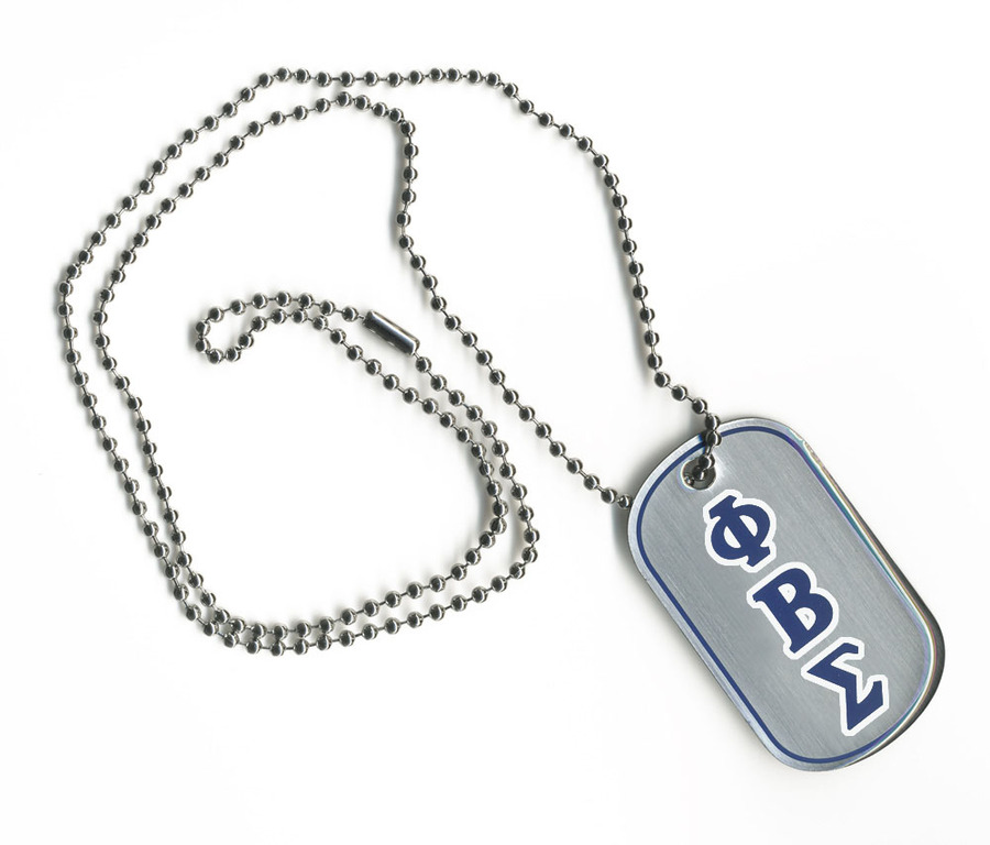 Phi Beta Sigma Reversible Dog Tags