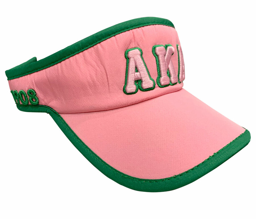 Alpha Kappa Alpha Greek Featherlight Pink Visor