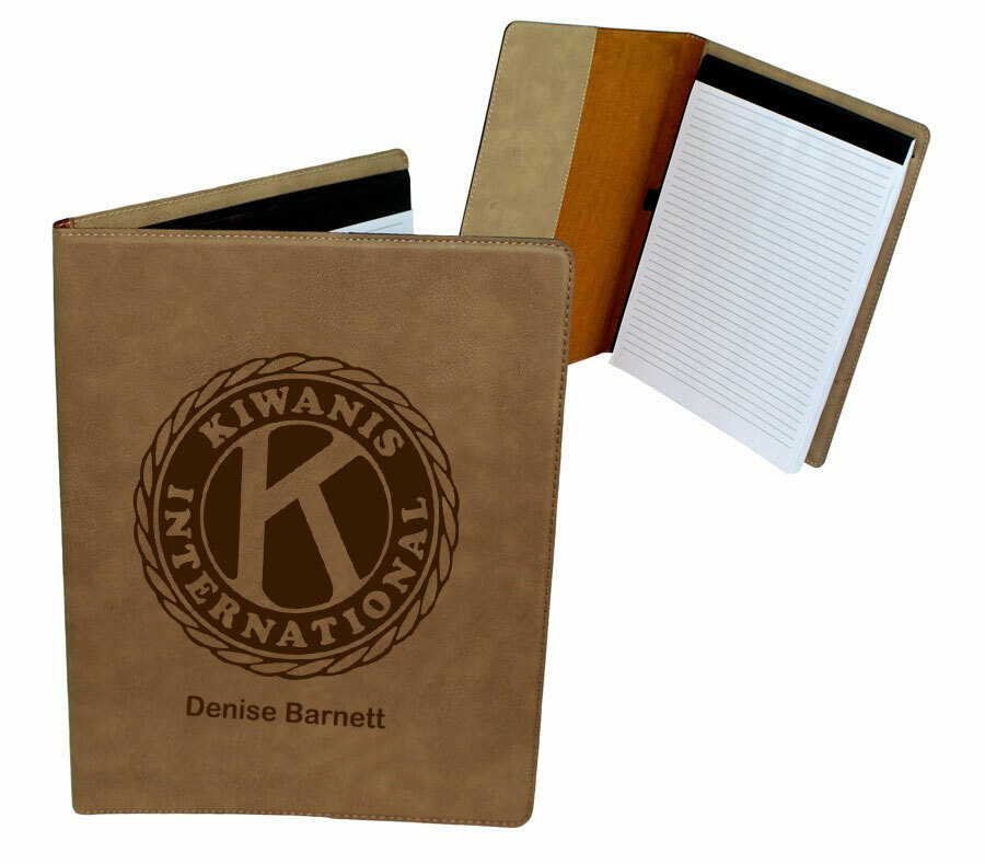 Kiwanis Leatherette Portfolio with Notepad
