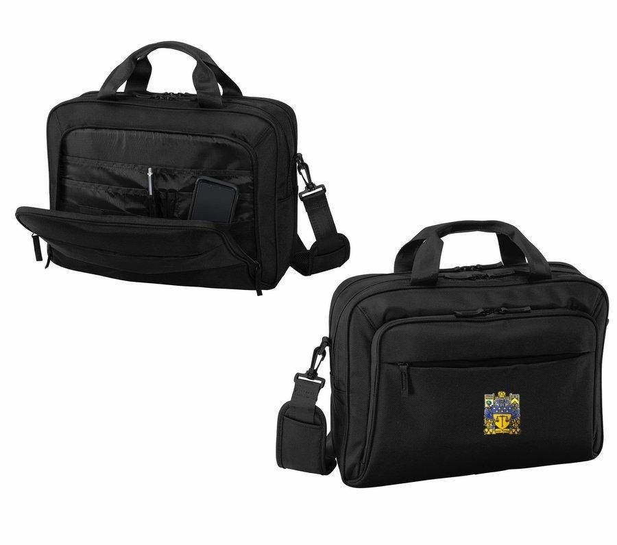 DISCOUNT-Delta Upsilon Crest - Shield Briefcase Attache