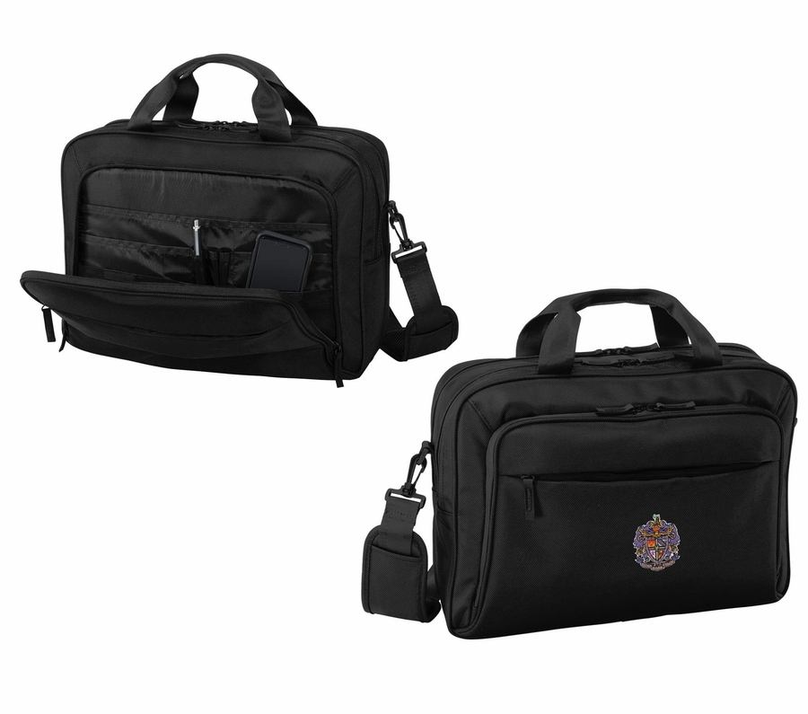 DISCOUNT-Sigma Alpha Epsilon Crest - Shield Briefcase Attache