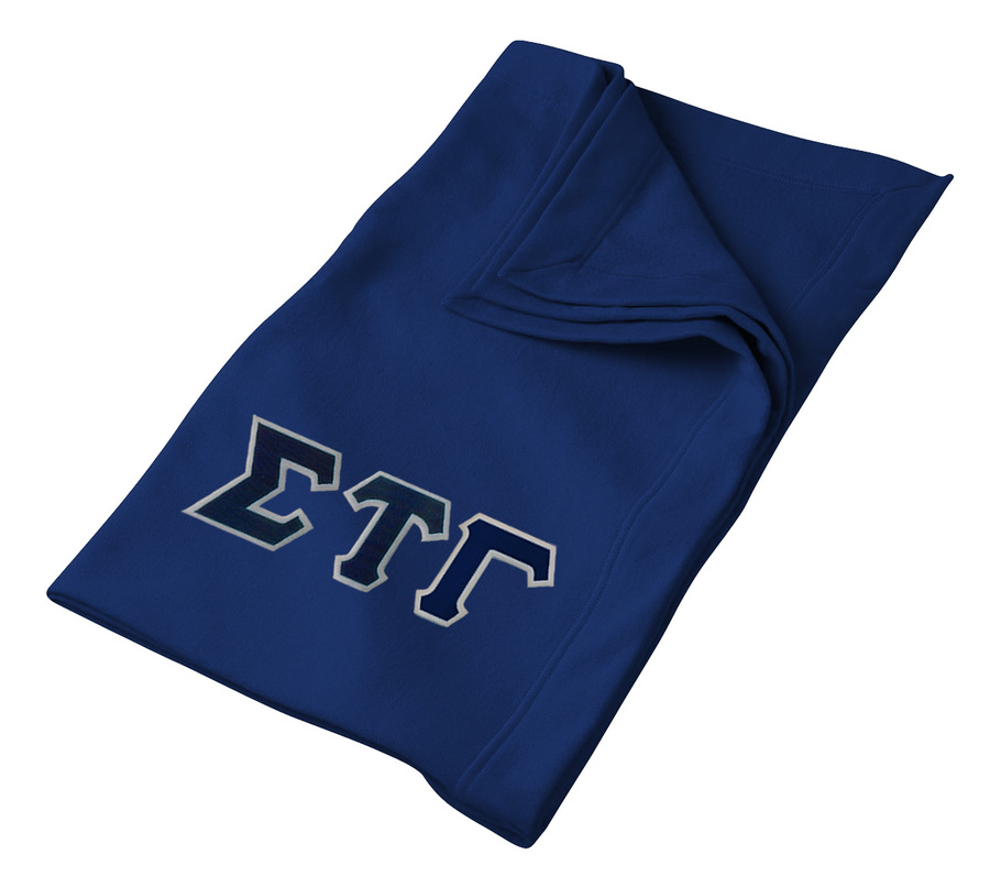 DISCOUNT-Sigma Tau Gamma Twill Sweatshirt Blanket