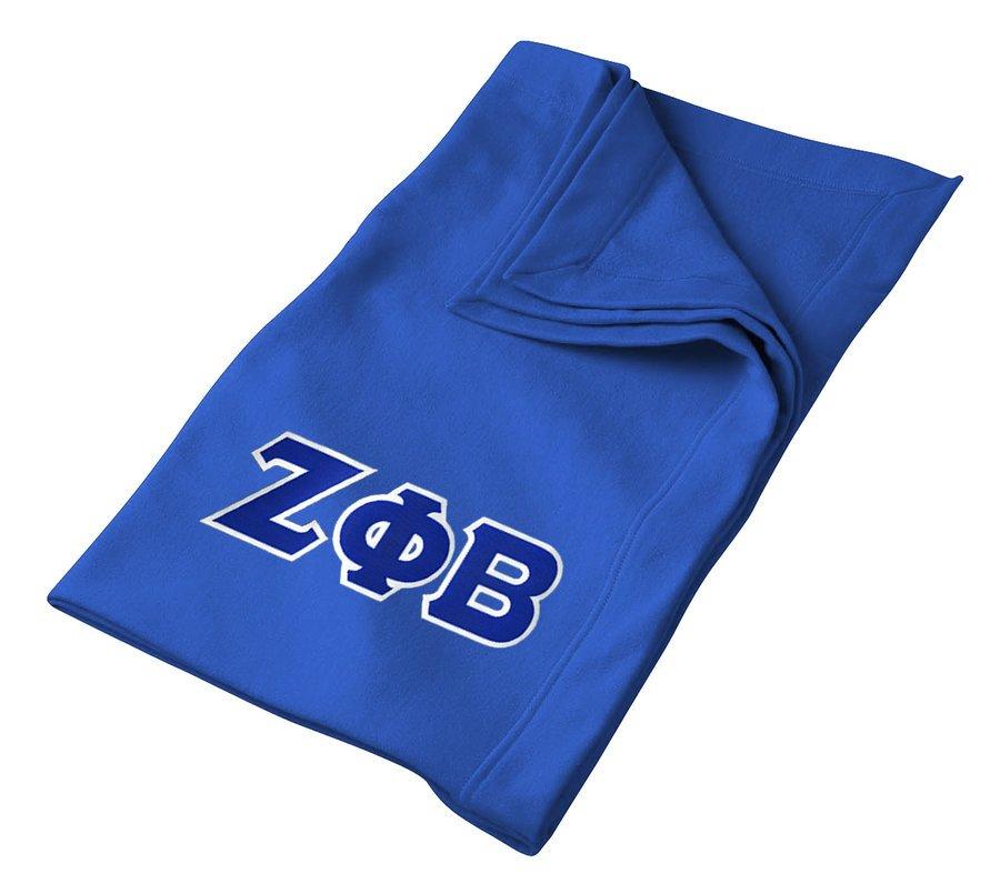 DISCOUNT-Zeta Phi Beta Lettered Twill Sweatshirt Blanket