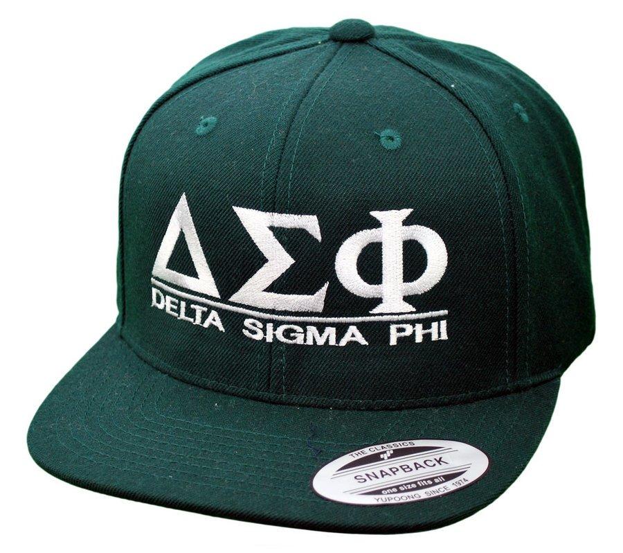 Delta Sigma Phi Flatbill Snapback Hats Original